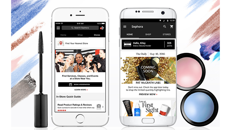 Sephora's mobile geofencing Store Companion app