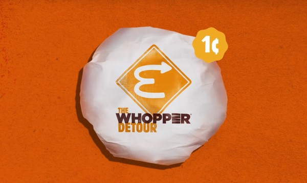 Burger King's Whopper Detour marketing campaign branding
